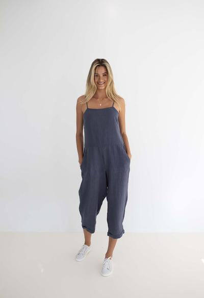 Humidity - Love Jumpsuit - Steel Blue