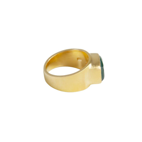 Fairley - Green Agate Forest Ring - Gold
