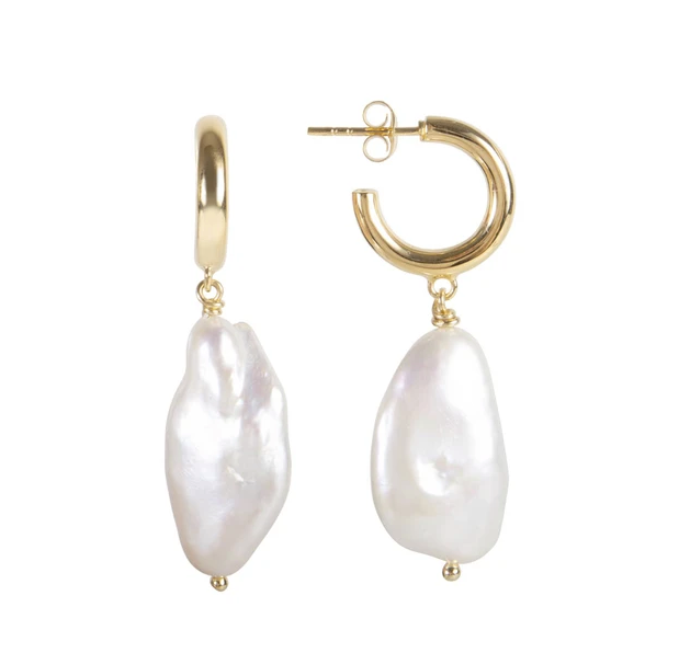 Fairley - Keshi Amora Earrings - Gold