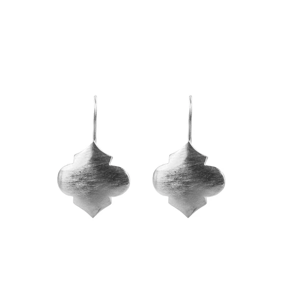 Fairley - Moroccan Hook Earrings - Silver