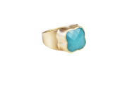 Fairley - Amazonite Clover Ring - Gold