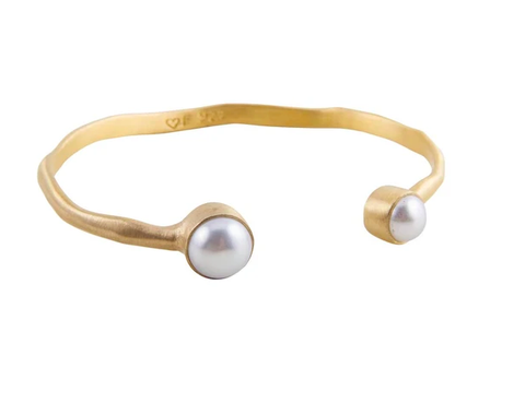 Fairley - Double Pearl Cuff - Gold
