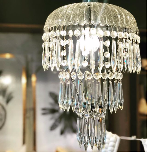 Zafirah - Crystal Chandelier - Antique