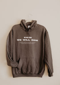 We Will Ride Hoodie Charcoal