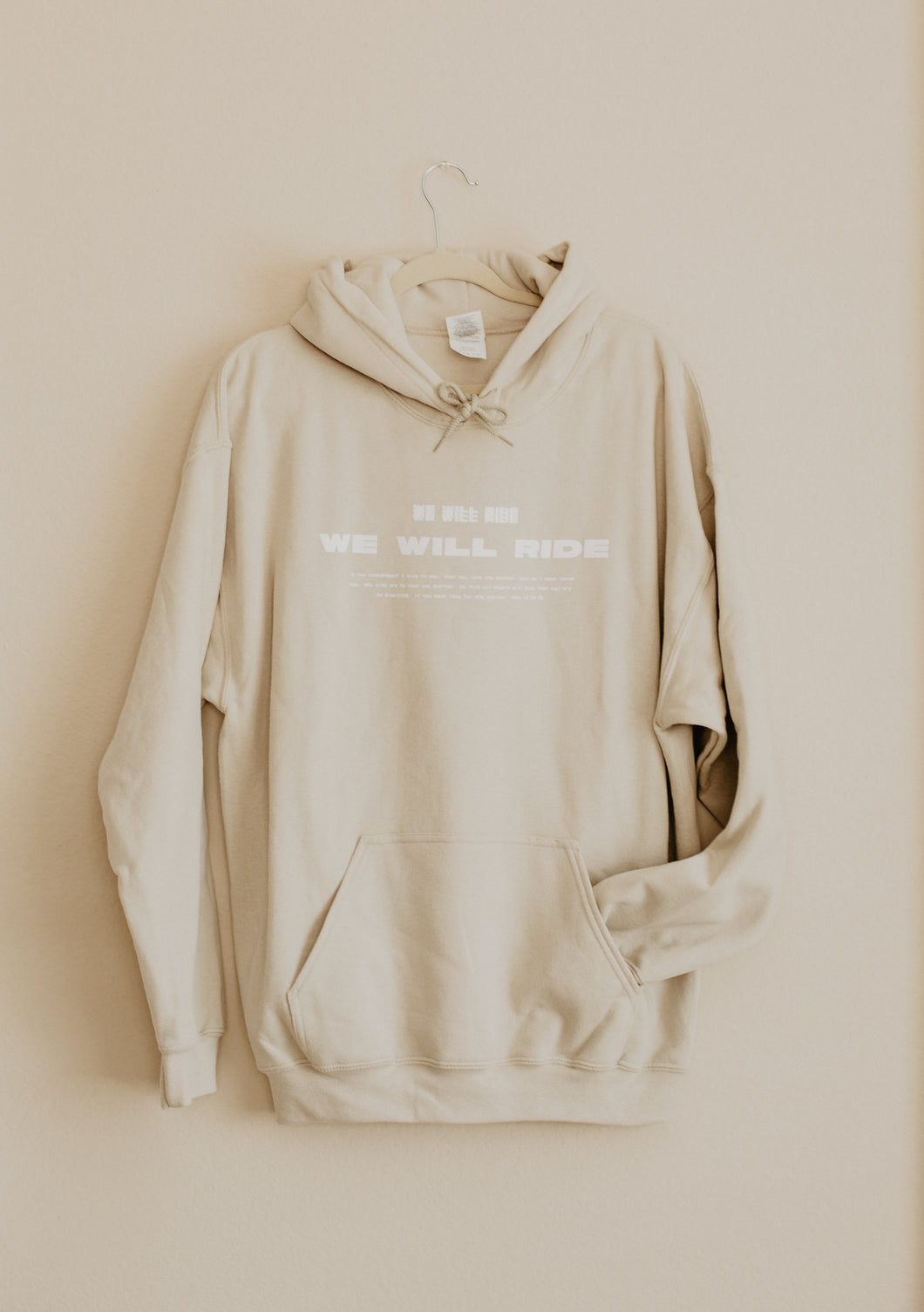 We Will Ride Hoodie Tan