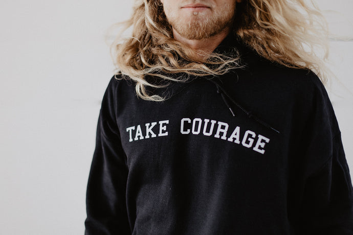 Take Courage Hoodie Black