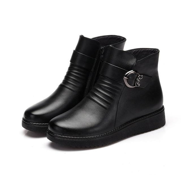 Bottines en cuir London pour femmes - Ohea Paris
