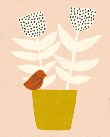 Sarah Golden - Bird and Plant No. 2 Print