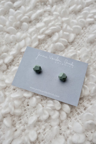 Faceted Porcelain Stud Earrings