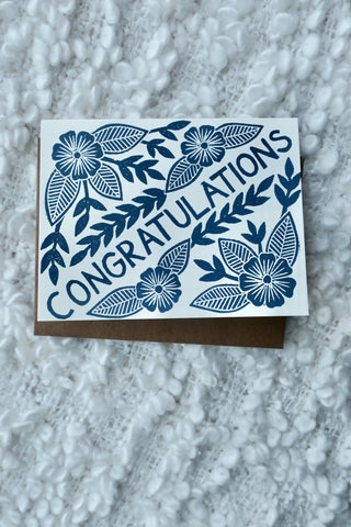 Congratulations Block Printed Card