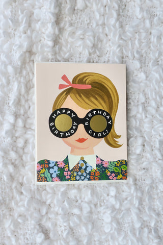 Blonde Birthday Girl Card