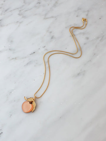 Wolf & Moon - Mini Peach Necklace