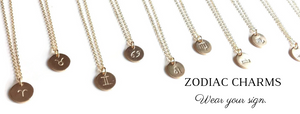 Zodiac Charm Necklace | Gold Astrology Necklace | Carla De La Cruz Jewelry