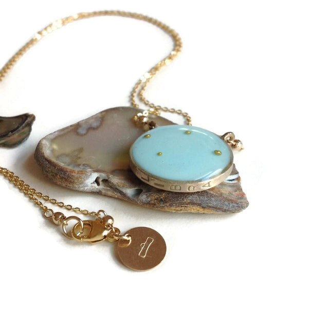 Libra Constellation Necklace Sky Blue | Libra Zodiac Necklace Gold | Libra Necklace | Celestial Necklaces | Astrology Necklace | Libra Gifts