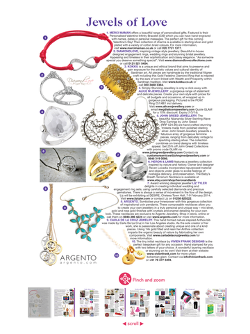 Carla De La Cruz Jewelry In Glamour Magazine