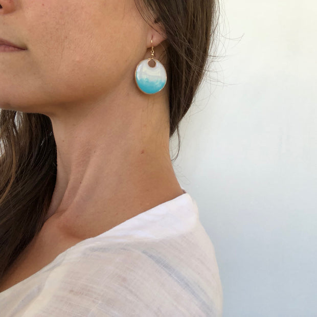 Aegean Large Circle Dangle Earrings Ombré