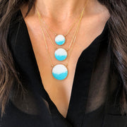 Aegean Three Circle Necklace Ombré