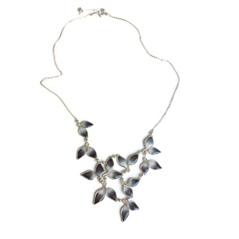 Anthos Leaf Bib Necklace Ombré