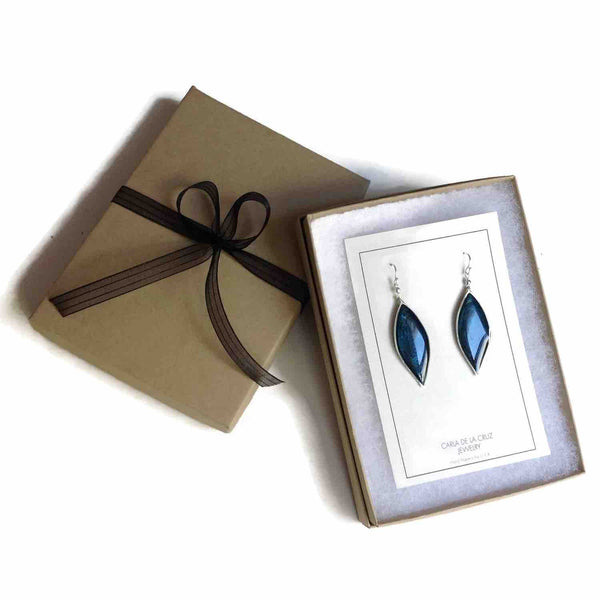 Anthos Leaf Drop Earrings