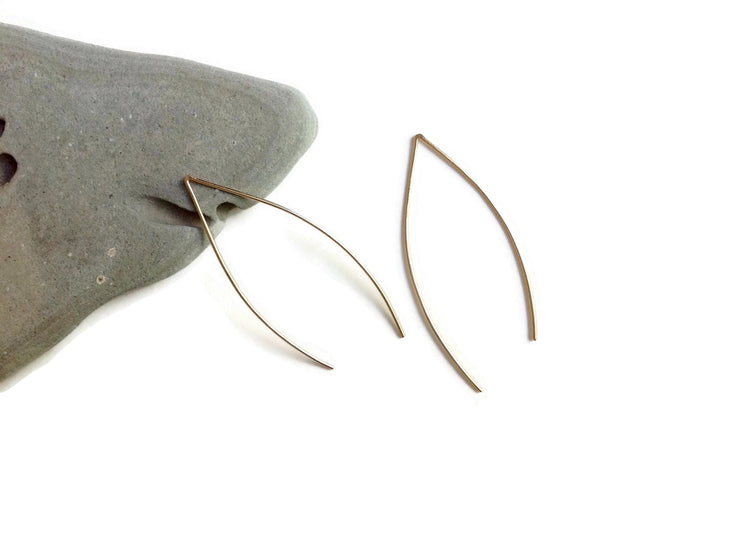 Anthos Leaf Hoop Earrings by Carla De La Cruz Jewelry