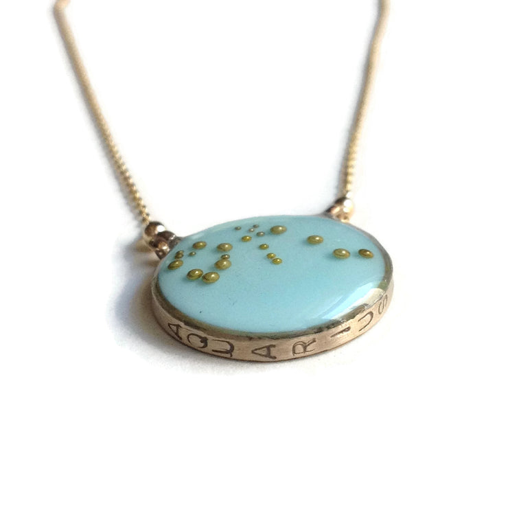 Aquarius Constellation Necklace Sample