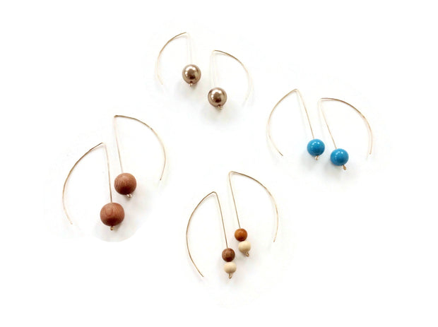 Anthos Leaf Bauble Hoops