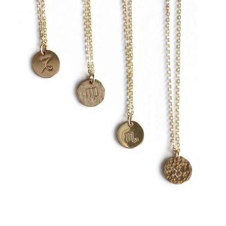 Gold Zodiac Charm Necklaces | Gold Astrology Necklace | Zodiac Gifts | Carla De La Cruz Jewelry