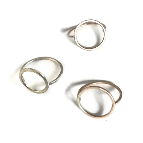 Open Circle Ring | Sterling Silver Circle Ring | Gold Open Circle Ring | Karma Ring |