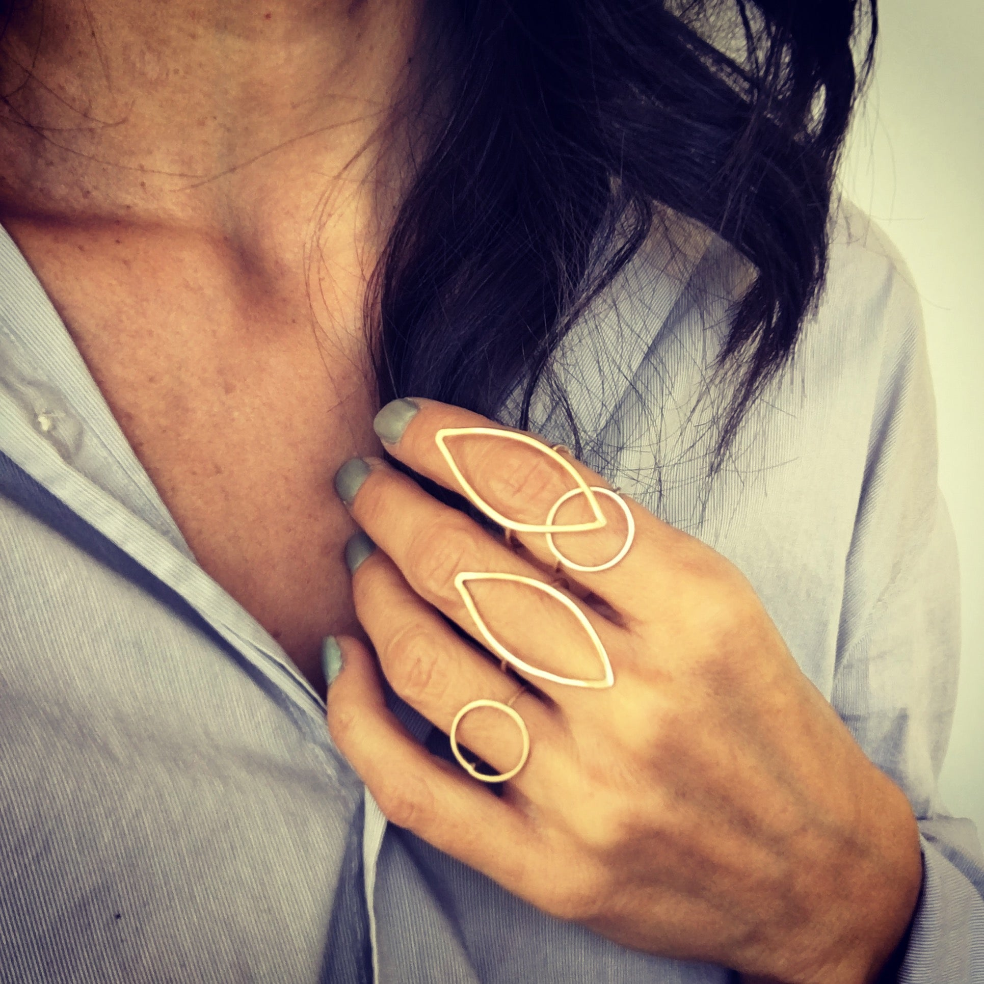 Anthos Leaf Ring by Carla De La Cruz Jewelry | Silver Stacking Rings | Gold Stackable Ring | Handmade Rings | Nature Rings | Minimalist Rings | Simple Jewelry