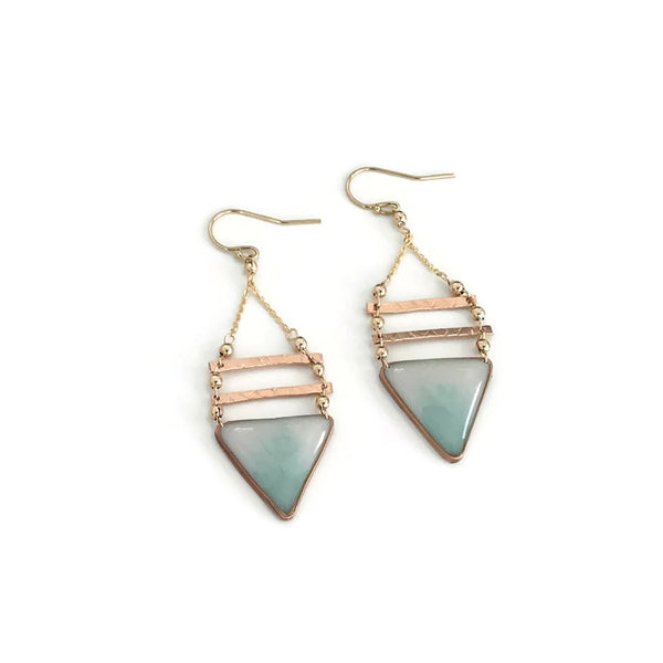 Geometría Triangle Earrings Ombré