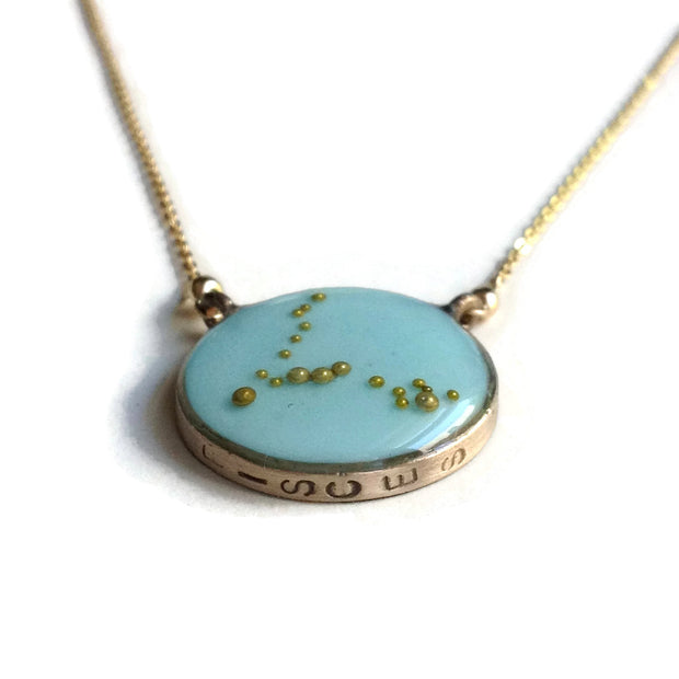 Pisces Constellation Necklace Sample