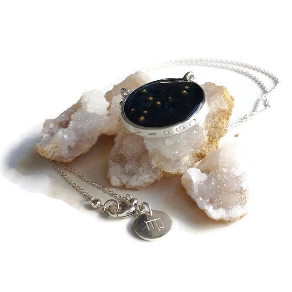 Virgo Constellation Necklace Night Sky