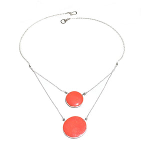 Aegean 2 Circle Necklace | Carla De La Cruz Jewelry