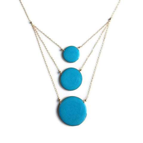 Aegean Three Circle Necklace