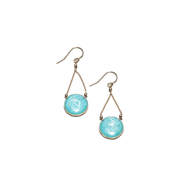 Aegean Circle Drop Earrings | Carla De La Cruz Jewelry