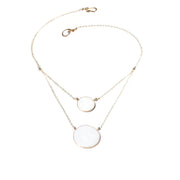 Aegean Two Circle Necklace