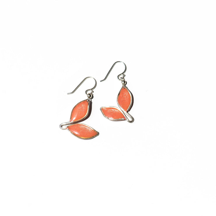 Anthos Double Leaf Drop Earrings Petite