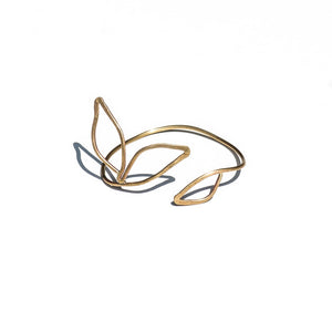 Anthos Leaf Cuff by Carla De La Cruz Jewelry | Flower Cuff | Leaf Bracelet