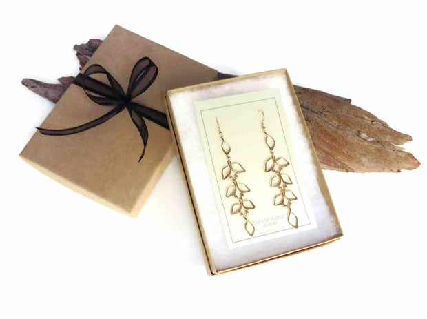 Anthos Falling Leaf Earrings