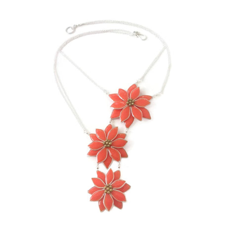Anthos Flower Bib Necklace