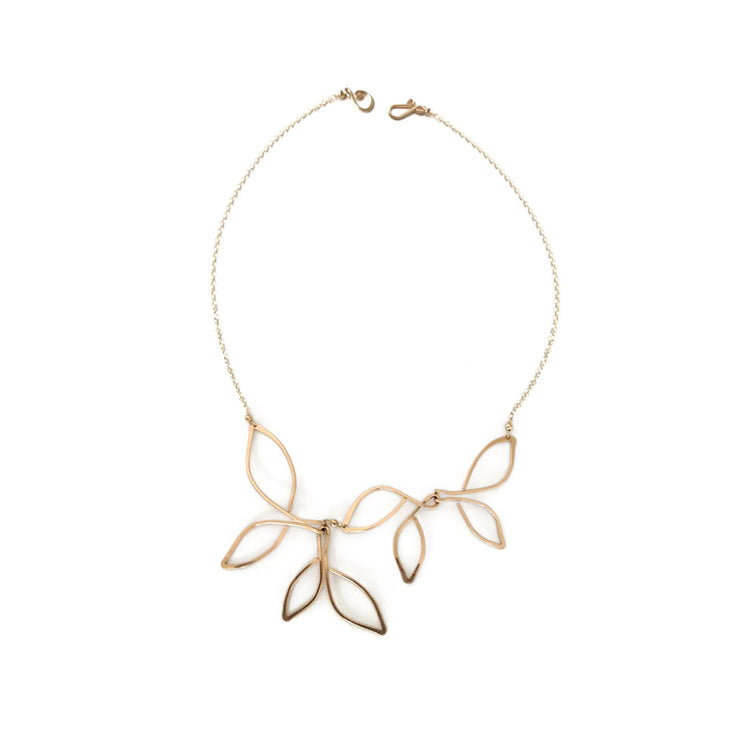 Anthos Leaf Necklace Open
