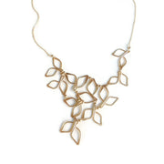 Gold Filled Leaf Bib Necklace
