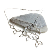Sterling Silver Leaf Bib Necklace
