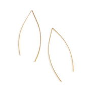 Anthos Leaf Hoops