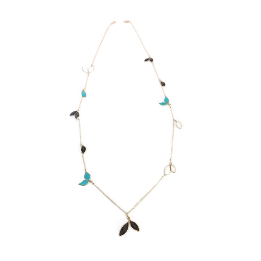 Anthos Long Petite Leaf Necklace
