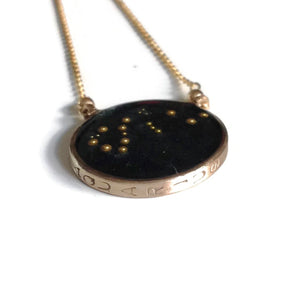 Aquarius Constellation Necklace Night Sky by Carla De La Cruz Jewelry | Zodiac Necklace Gold | Aquarius Necklace | Astrology Necklace | Aquarius Gift | Aquarius Jewelry