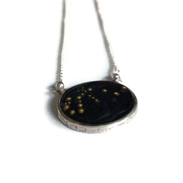 Aquarius Constellation Necklace Night Sky by Carla De La Cruz Jewelry | Sterling Silver Zodiac Necklace | Aquarius Necklace | Astrology Necklace | Zodiac Jewelry