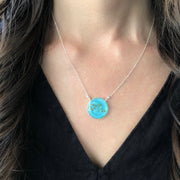 Aquarius Constellation Necklace Sky Blue