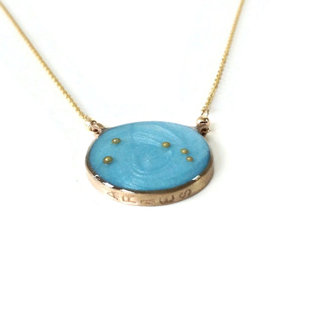 Gold Aries Necklace Night Sky | Aries Constellation Necklace | Aries Zodiac Jewelry | Aries Gifts | Aries Astrology Necklace | Carla De La Cruz Jewelry
