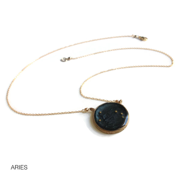 Aries Constellation Necklace Night Sky